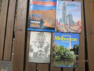 Assorted Travel Guides(4) for Melbourne, Vicenza, Antwerp Cathedral,Namibia