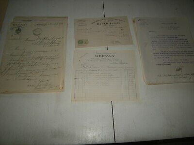 entêtes et documents ; origine France avant 1950 Lot de 300 factures