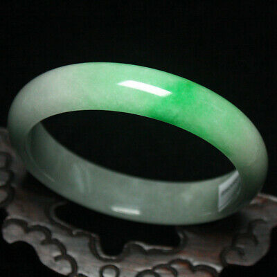 65mm Certified (Grade A) Natural Green Jadeite JADE Bracelet Bangle 2010