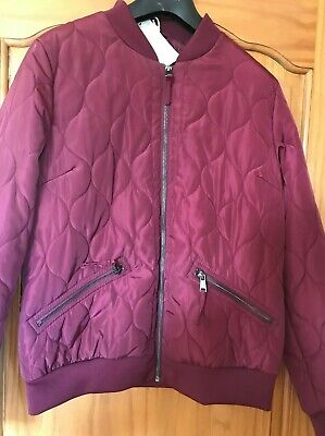 Marks and Spencer - Indigo Ladies Burgundy Quilted Jacket (size 14) NWT £55