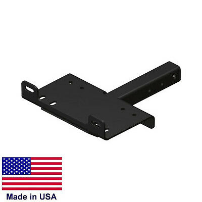 """WINCH MOUNTING PLATE for 2"""" Receiver Hitches - Heavy Duty Tubular Steel"""