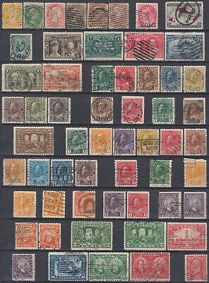 Canada early scarce values part of a stamp collection 1870-1932 high CV used