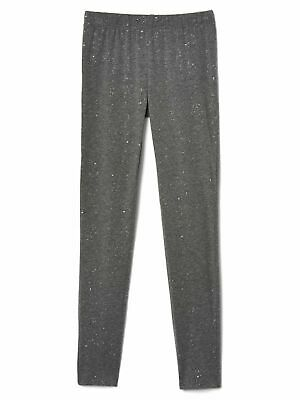 New! Gap Kids girls grey sparkle leggings - 13-14 years - stretch jersey soft
