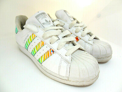 ADIDAS SUPERSTAR WHITE RAINBOW IRIDESCENT AQ0798 /' GIRLS//BOYS  ALL  SIZES