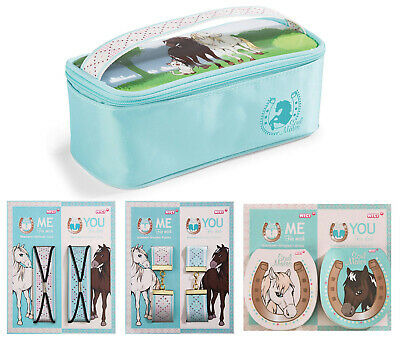 Nici Soulmates Horses 4er Set (Cosmetics Case, Braceletts, Hair Bands, Notepads)