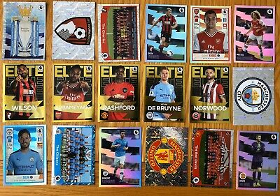 Panini Football 2020 Stickers (46 Singles, Elite, United, City, Premier League)