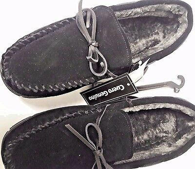 """Adult Moccasin  """"Genuine Leather""""  lined in Faux Fur sizes; Small & Large"""
