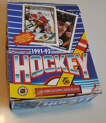 1991-92 O-Pee-Chee Hockey Wax Box Of 36 Packs Factory Sealed Opc