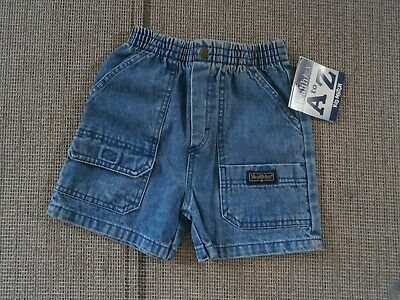 New With Tags Boys Healthtex  Denim Cargo Shorts Size 3T