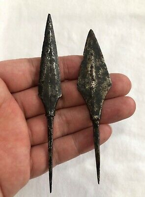 Two Ancient Iron Arrowheads