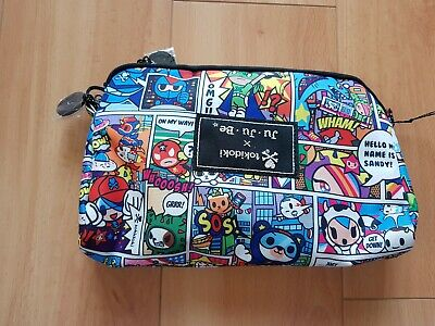NWT 3 PCS Tokidoki Ju Ju Be Super Toki Be Set Pouch Large Medium Small Flaw