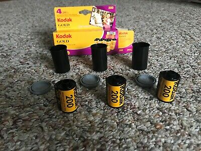Kodak Gold 200 expired color print film (35 mm) ISO 200 - 24 exposures - 3 rolls