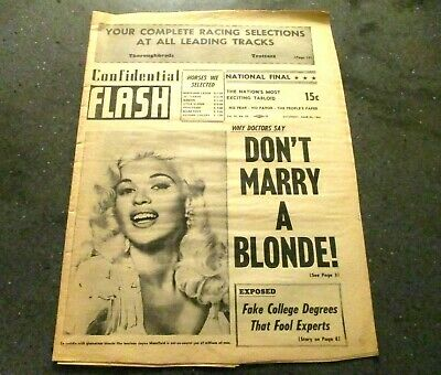 Confidential Flash 1961 Canada paper sleaze pulp collectible horses  Mansfield