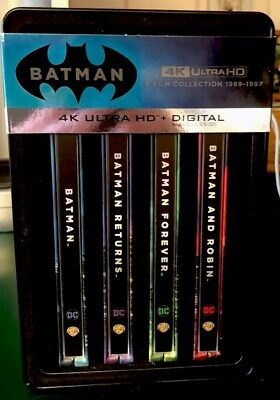 Batman 4-Film Steelbook Collection:1989-1997 4K Ultra HD• Includes Digital Codes