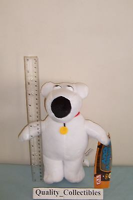 """NEW ~ BRIAN GRIFFIN THE DOG 9.5"""" inch PLUSH DOLL from FAMILY GUY TV  SHOWN"""