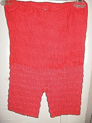 Vtg Red Cotton Ruffled Lace Pettipant-Bloomers-Square Dance-Mona Of Hollywood-S