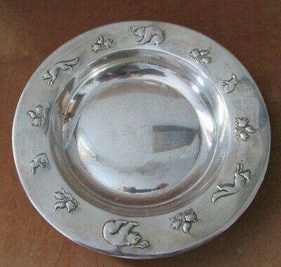 REV  BJORN HARE Pattern Bowl David Andersen Child's Animal 830S Silver Norway