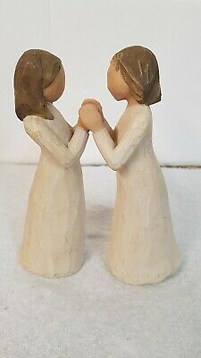 """Willow Tree """"Sisters By Heart"""" Pair of Figurines Signed Susan Lordi 2000"""