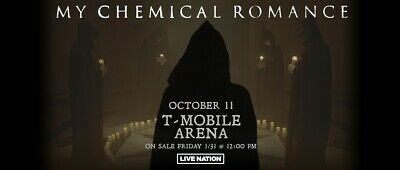 My Chemical Romance Tickets, October 11, T-Mobile Arena Las Vegas, Section 221
