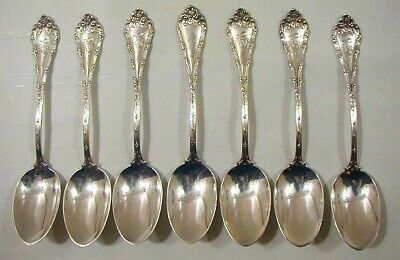 Shreve Sterling Silver Teaspoons 7 Tea Spoon Lot Madame Royale 6.09 Oz 1897