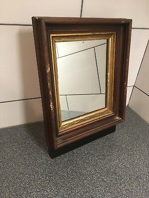 """Genuine Antique Mahogany Wood Gold Gilded Frame With Free Mirror 14x12"""" Lot#927"""