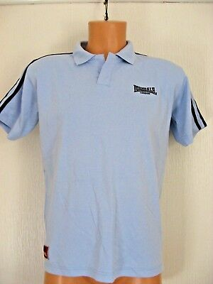 New Boys Pale Blue Lonsdale Short Sleeve Polo Style Golf T-Shirt Top Age 12-13
