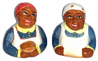 Collectable Novelty Americana Mammy Salt & Pepper Shakers - New.