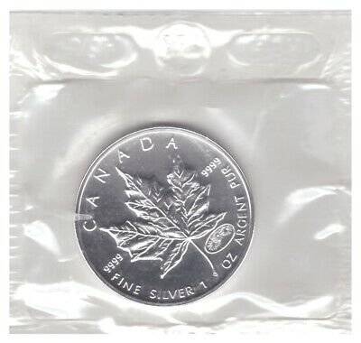 2000 CANADA 1 oz .9999 FINE SILVER UNC. $5 MAPLE LEAF with FIREWORKS PRIVY MARK!