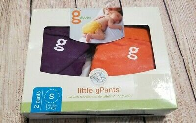 gDiapers Little Gpants 2 Pants Size S Small 8 - 14 lbs Purple Orange G Diapers