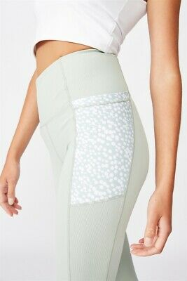 Cotton On Body Rib Hybird 7/8 Tight  In  Washed Aloe Spotimal