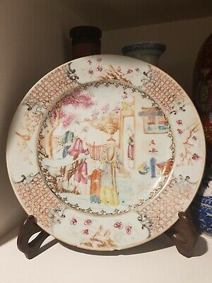 Authentic and Stunning Antique Chinese Hand Painted Plate c1800s