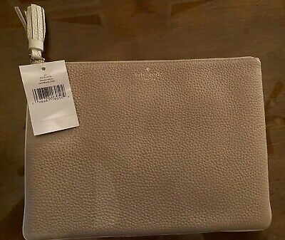 Kate Spade Gia Pouch/ Clutch- NWT- $89.00- Zippered Pouch- Cement Color/ Look!!!