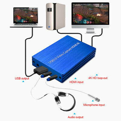 4K HDMI To USB 3.0 1080P Video Capture Card Dongle for OBS Game Live Stream NEW
