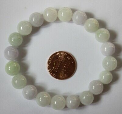 CERTIFIED Natural Grade A Untreated Light Lavender Jadeite Jade Bracelet #Br583