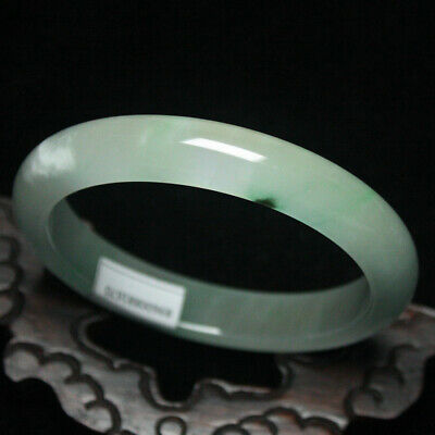 62mm Certified (Grade A) Natural Green ice Jadeite JADE Bracelet Bangle 2017