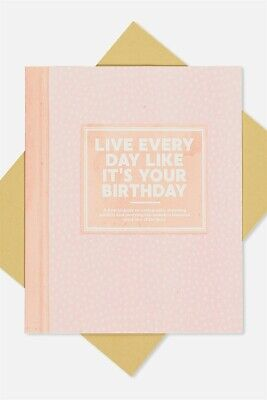 Typo Unisex Nice Birthday Card Cards  In  Pink