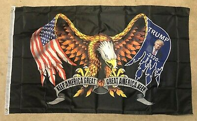 Trump Flag 3 x 5 Keep America Great 2020 Eagle America MAGA