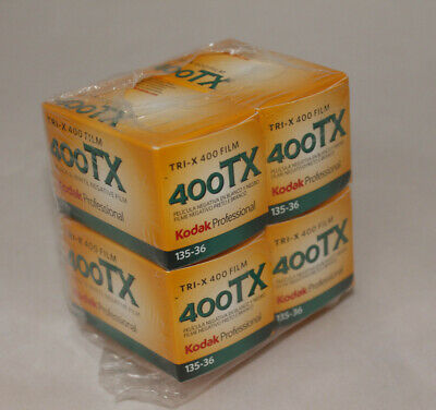 KODAK 400TX (Tri-X) black & white film 135-36 35mm - 4 rolls - EXP 03/2019