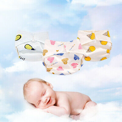 Breathable Adjustable Washable Reusable Newborn Baby Cotton Cloth Diapers Cover