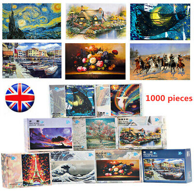 Puzzle Adult/Kids 1000 Pieces Large Wooden Jigsaw Decompression Game Toy Gift UK