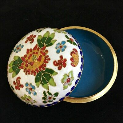 Collect China Culture Old Cloisonne Carve Varicolored Flower Delicate Rouge Box