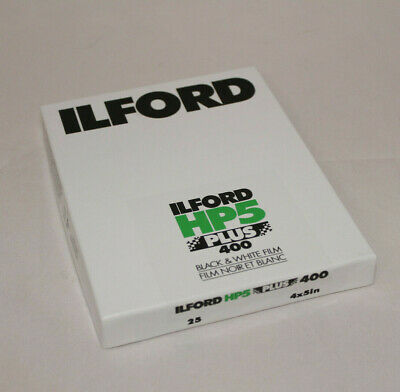 ILFORD HP5 PLUS 400 black & white film - 4 x 5 inch - 25 sheets - EXP MAR 2019