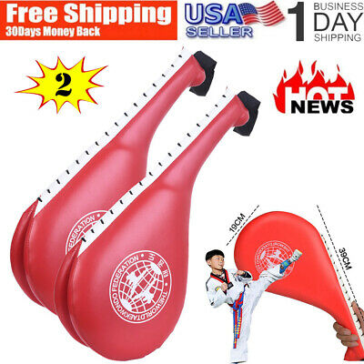 Taekwondo Kicking Target Double Pad Karate Martial Arts Equipment Black LeCaf