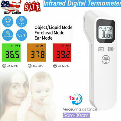 Non Contact Digital IR Infrared Forehead Thermometer Gun Adult Body Temperature