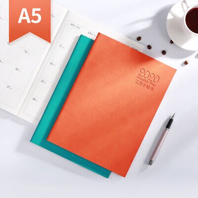 2020Calendar Leather Notebook Daily Monthly Planner Diary Scheduler Planner #AM8