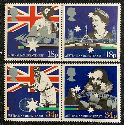 Gb 1988 Bicentenary Of Australian Settlement- Four Fine Stamps Mnh