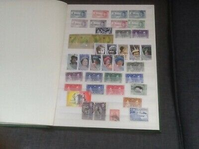A nice collection of GB Commonwealth stamps randomly arranged in a stock book.