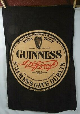 """Mid Century Vintage 1960'S """"Guinness"""" Extra Stout"""" Bar Towel"""