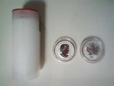 2016 1 oz silver Maple Leaf Monkey Privy Tube of 25 - Abrasions