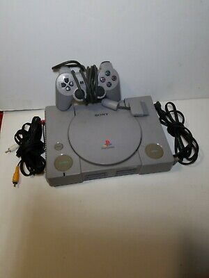Sony PlayStation 1 PS1 Console Complete Gray TESTED WORKING